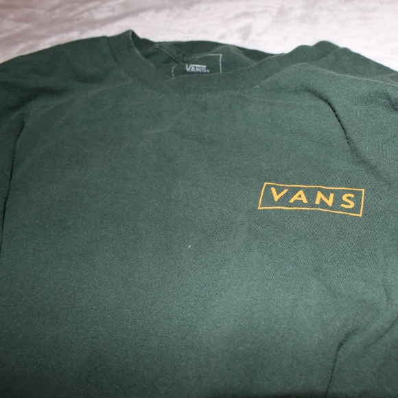 84276909 Vans Checkmate Green & Yellow Long Sleeve T-Shirt